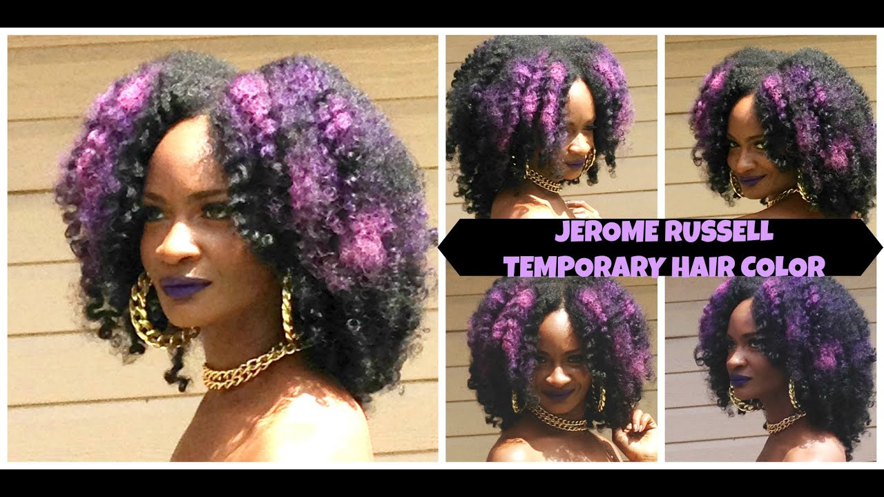 Natural Hair Twist Curl Featuring Jerome Russell Temporary Hair