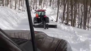 Mahindra mPower Plowing Snow