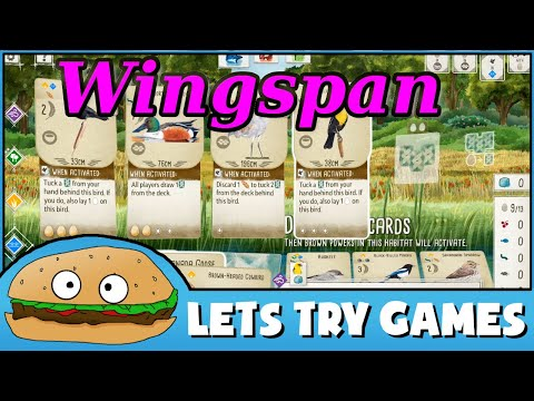WINGSPAN 🍔 Let's Try Games 🍔 |