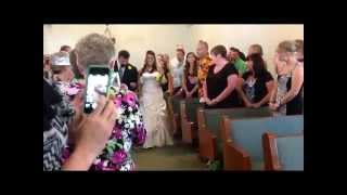 Bride Coming Down Aisle-Kristin