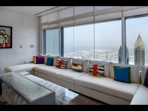 Modern Penthouse in Index Tower, Dubai with Sea and Skyline Views