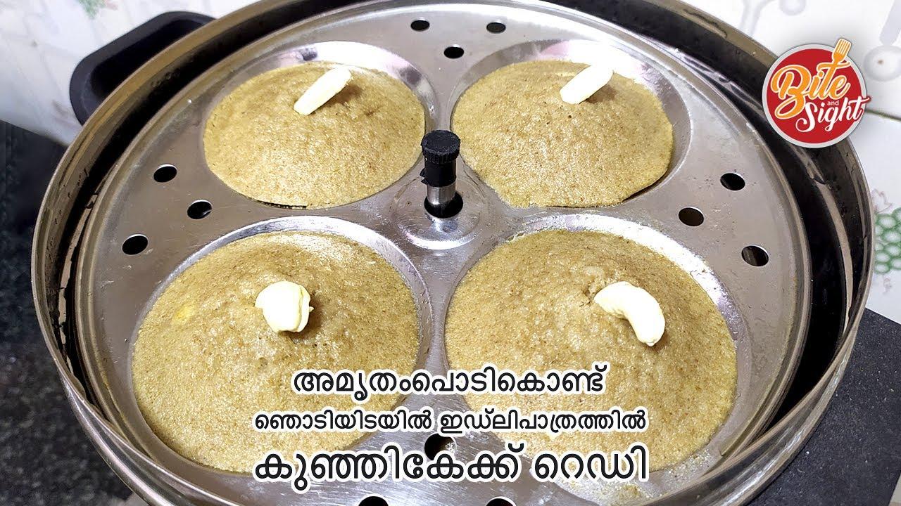 അമൃതംപൊടികൊണ്ട് ഞൊടിയിടയിൽ  ഇഡ്ലിപാത്രത്തിൽ കുഞ്ഞികേക്ക് റെഡി || Nutrimix idlicake || cake recipe