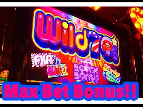 Wild 70's Slot Machine, Max Bet Bonus, by Multimedia Games, Slot Machine Bonus