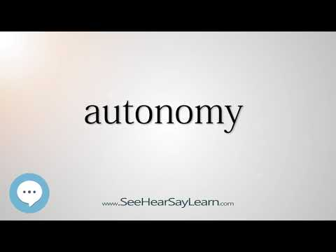 autonomy    5,000 SAT Test Words and Definitions Series