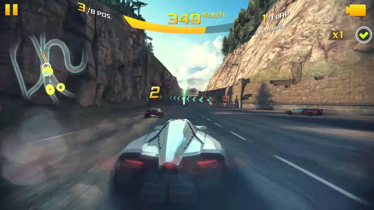 Lamborghini Egoista At Its Top Speed In Asphalt 8 In The Great Wall