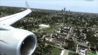 Landing at Omaha Eppley Airfield (KOMA) American Airlines 737-800