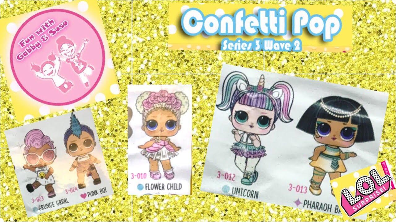 TOP Surprise Dolls 3-024 New Confetti Pop PUNK BOI Series 3 Wave 2 Color Change
