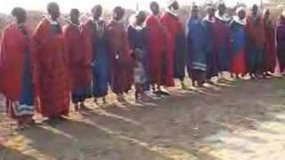 masai village and song