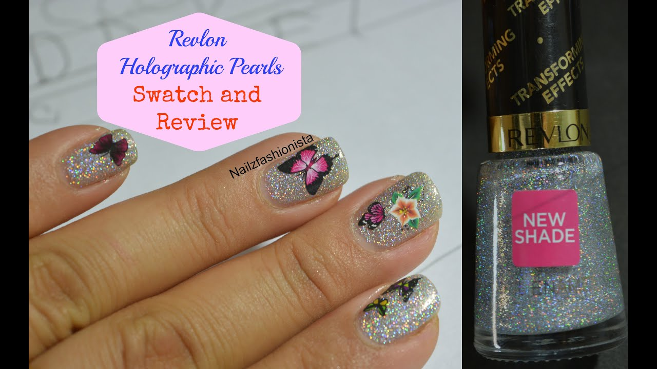 Revlon Transforming Effects Top Coats, Holographic Pearls (Swatch ...