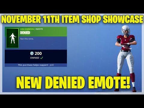 Fortnite Item Shop NEW DENIED EMOTE! [November 11th, 2018] (Fortnite Battle Royale)