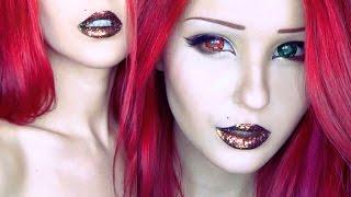 Голографические губы | Holographic lips makeup tutorial by Anastasiya Shpagina
