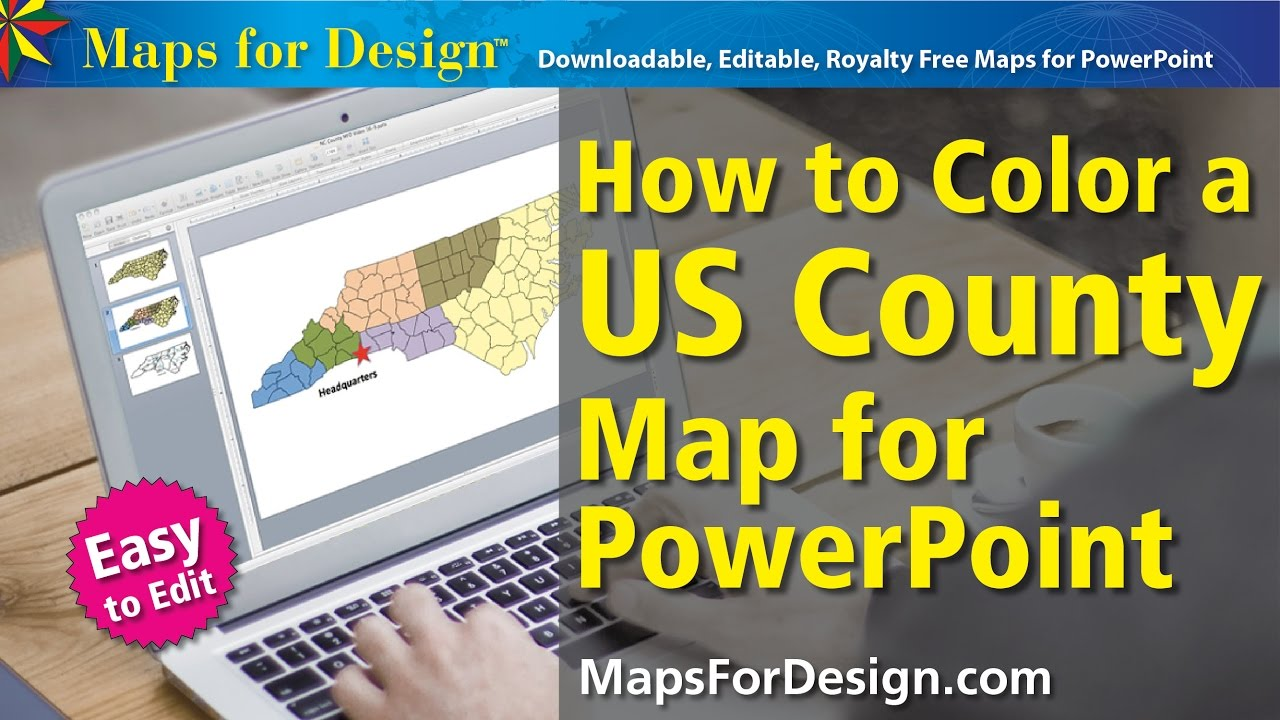 How To Color A Usa State County Map To Make A Sales Territory Map