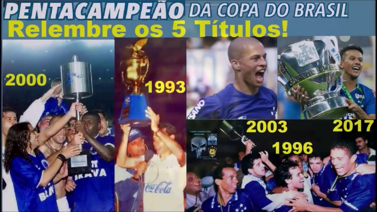 Copas Do Brasil Os 5 Títulos do Cruzeiro! Relembre! Cruzeiro PENTA ... e013880d12a14