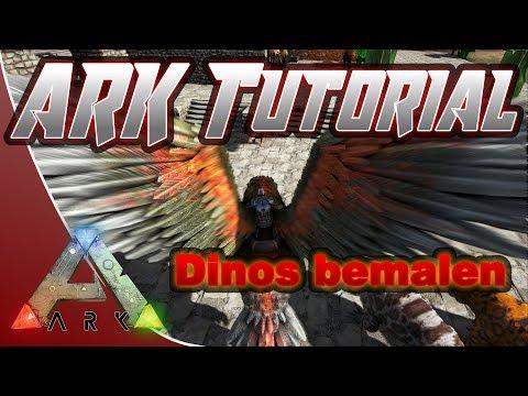 ARK Tutorial Painting Dino bemalen aus Vorlage Dino Skin Deutsch