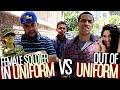 Female Soldier In Uniform VS Out Of Uniform!