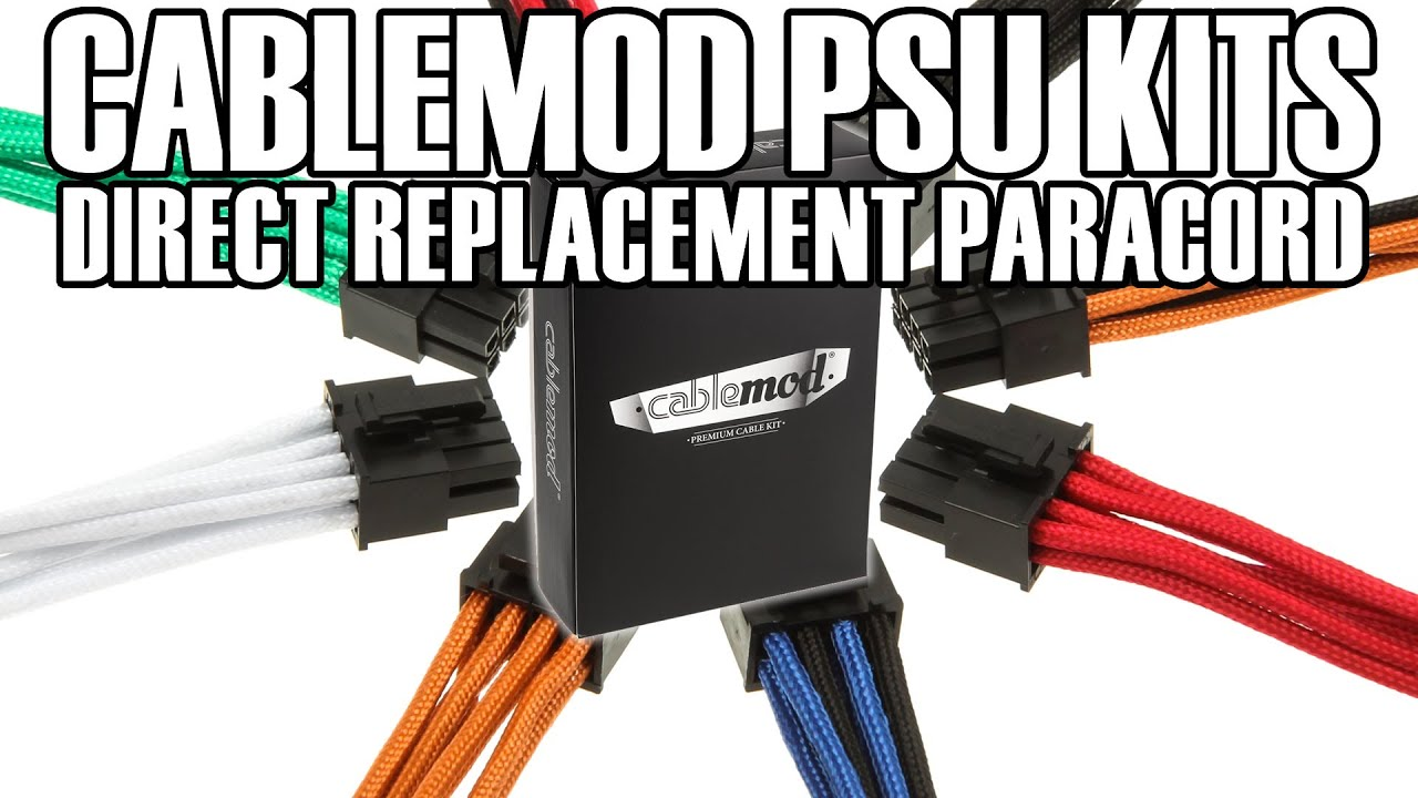 Cablemod Individually Paracord Braided Psu Cable Kit