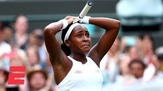 15-year-old Cori Gauff stuns Venus Williams in Round 1 | 2019 Wimbledon Highlights
