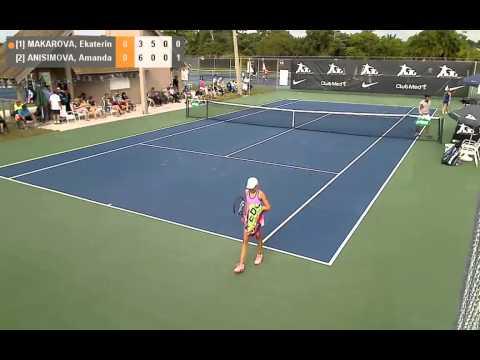 NJT Int Masters 2013 - FINAL - G-U12 winner Amanda Anisimova (USA)