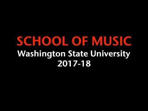 Welcome to the Washington State University School of Music 2017-18