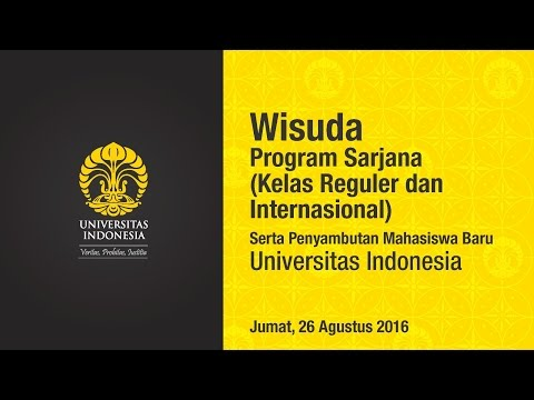 Wisuda UI Program Sarjana (Kelas Reguler dan Internasional) Semester Genap 2016