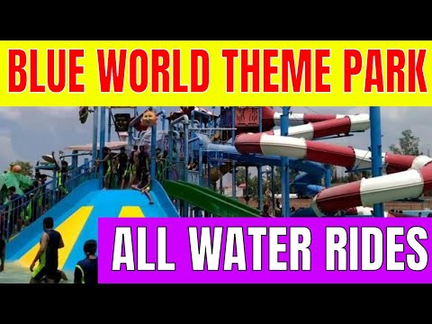 Blue World Theme Park Kanpur - Complete Water Rides - Part Ist  Full HD