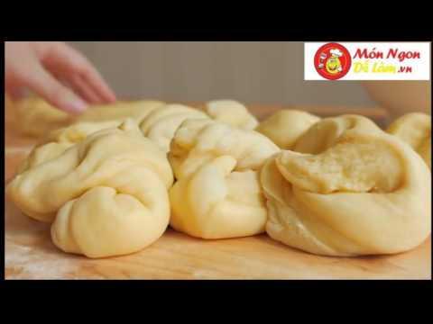 video  hướng dẫn làm bánh mỳ nhân trứng sữa bằng chảo đơn giản nhất