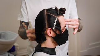 Not Confident Cutting Men's Loฑger Hair? Then Watch This!!!