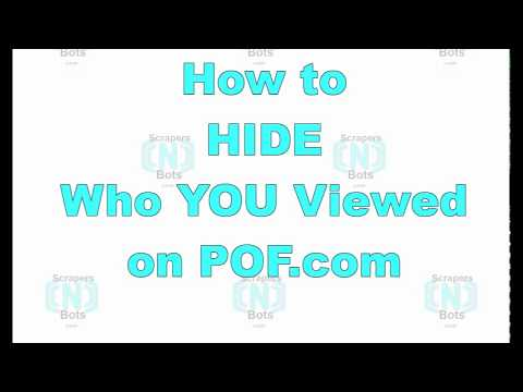 How To HIDE PROFILES YOU VIEW ON PLENTY OF FISH POF Com