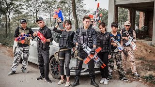 LTT Nerf War : Two Police SEAL X Mission Rescue Diamond Bandits Nerf Guns