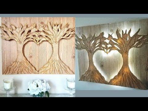 Diy 3D Heart Shape Tree Wall Decor With Lighting!