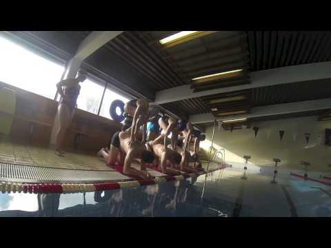 Human Starting Blocks for Swimming