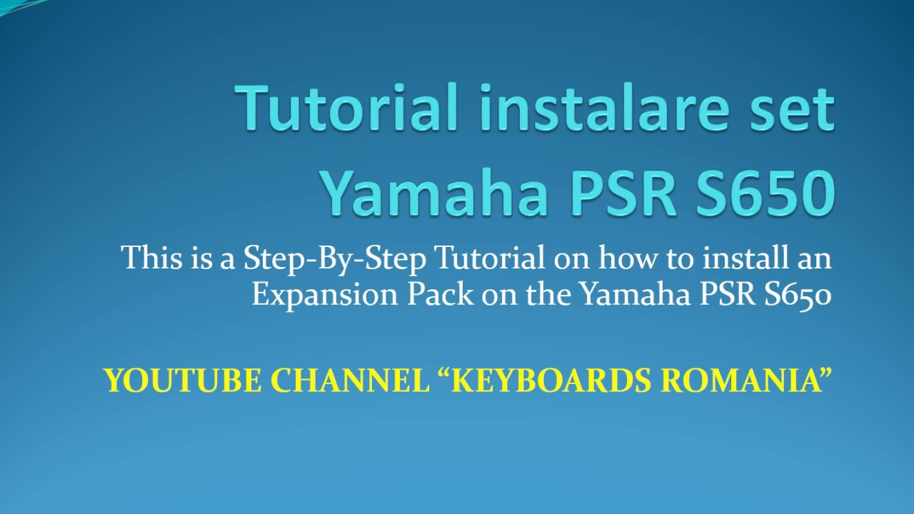 Yamaha S Expansion Pack
