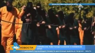 Сирийские повстанцы казнили 13 боевиков ИГИЛ