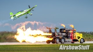Shockwave Jet Truck/Airplane Drag Race - Cleveland National Airshow 2015