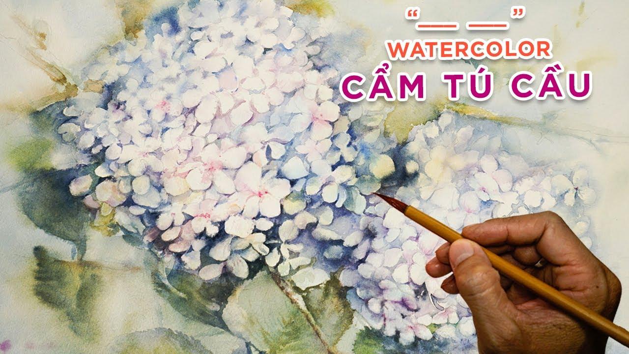 Hướng dẫn vẽ hoa Cẩm Tú Cầu Đà lạt #2 | Vườn hoa Cẩm Tú Cầu | Tutorial flowers