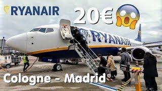 ✈MY 20€ RYANAIR FLIGHT! | TRIP REPORT | Ryanair (Economy) | Cologne - Madrid | Boeing 737-800