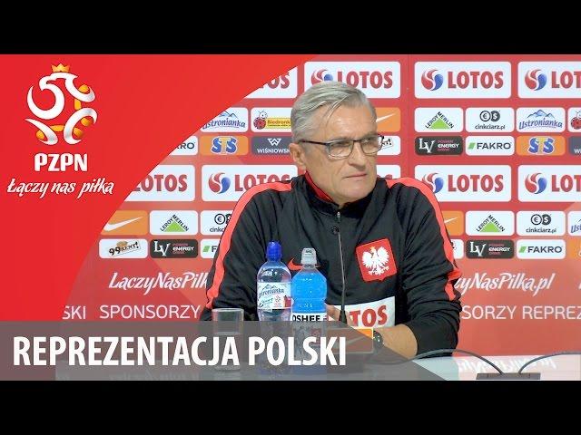 Konferencja prasowa przed meczem ze Słowenią (Wrocław, 13.11.2016 r.)