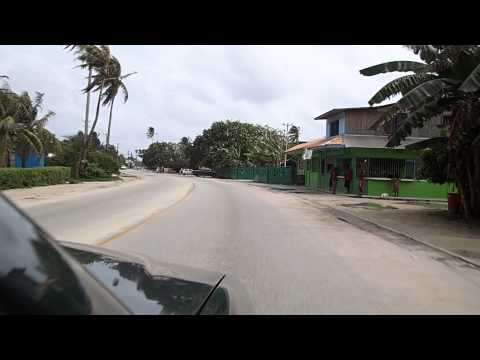 Driving at Majuro Atoll in the Marshall Islands
