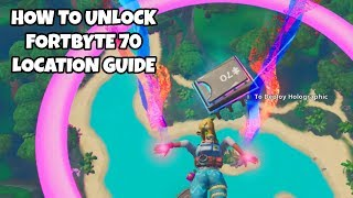 How To Unlock Fortbyte 70 Location Guide | Fortnite Season 9 Challenges