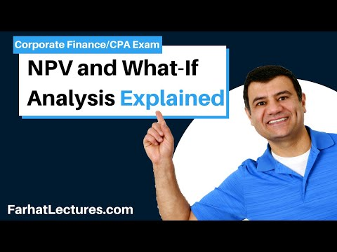NPV and what if analysis corporate finance ch 11 p 1