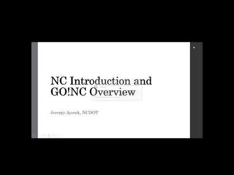 GOTUG Webinar North Carolina DOT