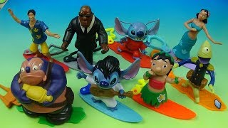2002 WALT DISNEY PRESENTS LILO and STITCH SET OF 8 McDONALDS HAPPY MEAL MOVIE TOYS VIDEO REVIEW