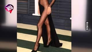 C羅前女友幾近全裸 透視裝參加奧斯卡派對