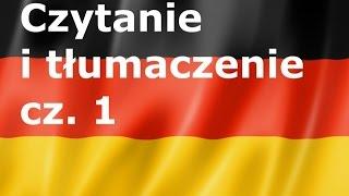 Czytanie i tłumaczenie część1  - język niemiecki -  gerlic pl