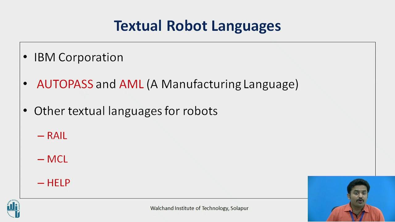 Robot Programming Languages Part I
