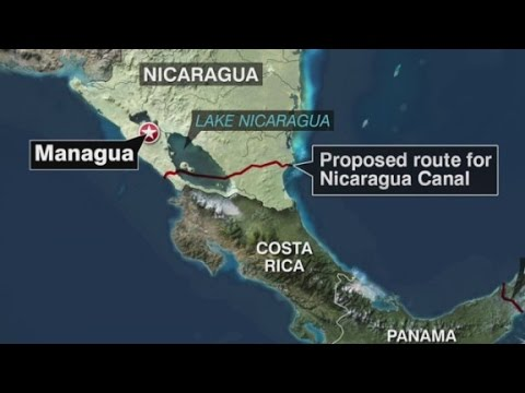 Canal To Cut Across Nicaragua Youtube