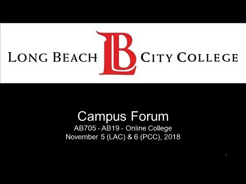 Campus Forum, LAC - November 5, 2018