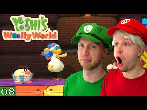 Bros Play Yoshi's Woolly World ✪ BURT THE BASHFUL! ✪ Let's Play Co-op #08