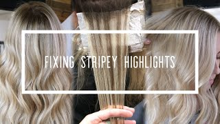 Fixing Stripey Highlights || Hair Tutorial