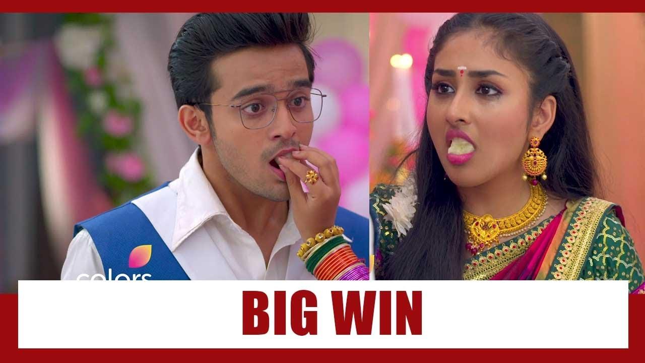 Download Barrister Babu Spoiler Alert: Vaijayanti (Bondita) feeds rasgulla to Anirudh